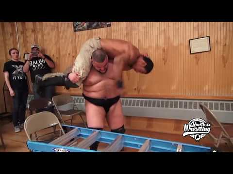 AR Fox Hits Sliced Bread #2 Onto Ladder - Limitless Wrestling (Lucha Underground, Dante Fox)