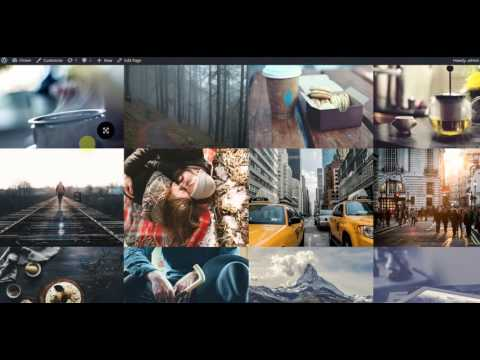 How to create Gallery layouts - Photo Fullscreen WordPress Theme – Flicker