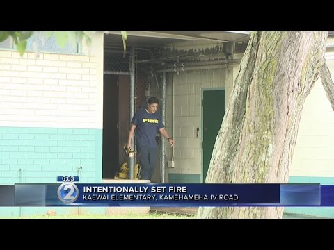 Firefighters extinguish Kalihi elementary school building fire
