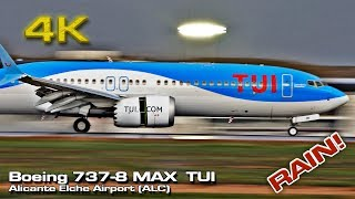 New Boeing 737-8 MAX [4K] TUI Airlines Alicante Airport (Rain) OO-TMB