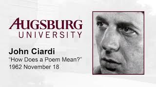 "John Ciardi, ""How Does a Poem Mean?"" (1962)"