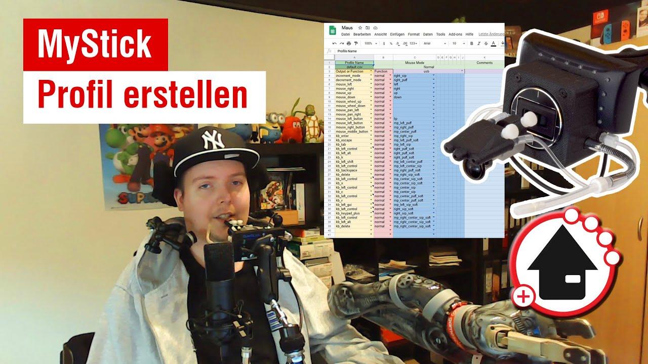 video MyStick Mundjoystick