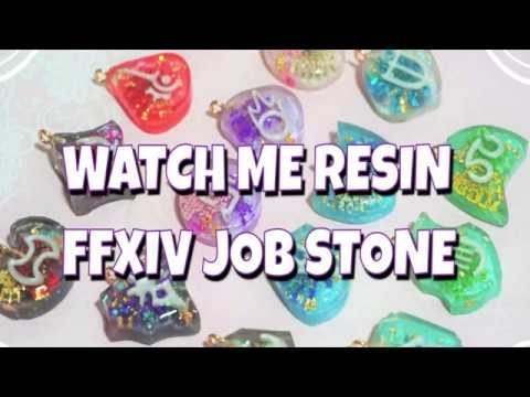 Watch Me Resin 💎 How I make FFXIV Job Stone / Soul Crystal