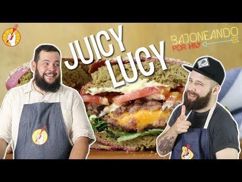 Juicy Lucy con Ramita   Receta Fácil de Hamburguesa Rellena   Tenedor Libre y Bajoneando por Hay