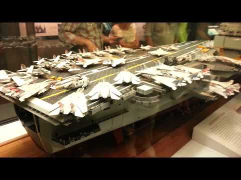 Model aircraft carrier in Washington DC