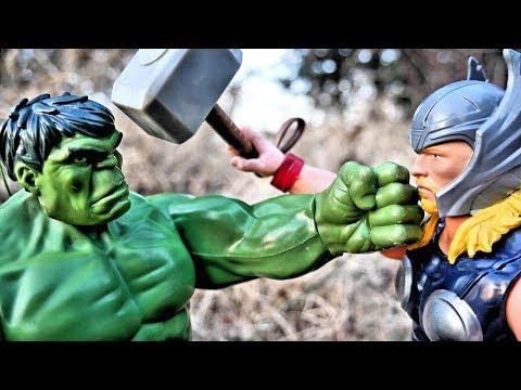 Thor vs Hulk Part 2 Epic Battle Titan Heroes Avengers Movie!