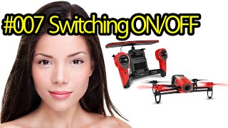 Tutorial #007 Switching ON/OFF Parrot Bebop Drone - Quadcopter Camera For Aerial Photos And Videos