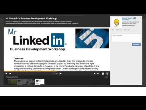 placing a slideshare presentation in your linkedin profile youtube