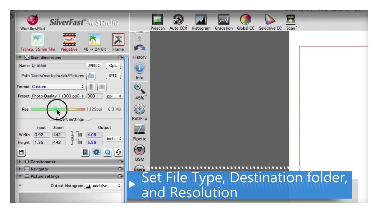 Plustek OpticFilm - Your First Scan