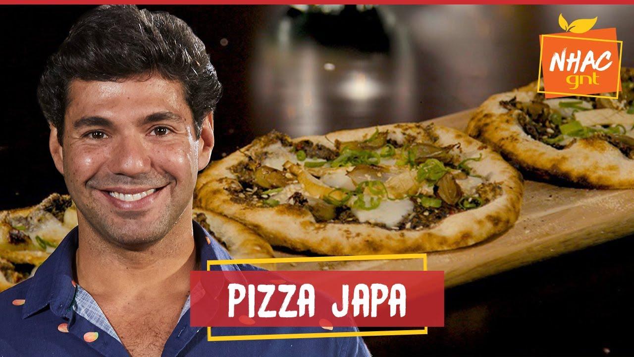 Mini pizza de cogumelos com cebola flambada no saquê | Felipe Bronze | Perto do Fogo