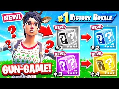 LUCKY BLOCKS Gun Game *NEW* Game Mode in Fortnite Battle Royale