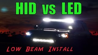Toyota 4Runner - HID install - plus LED comparison