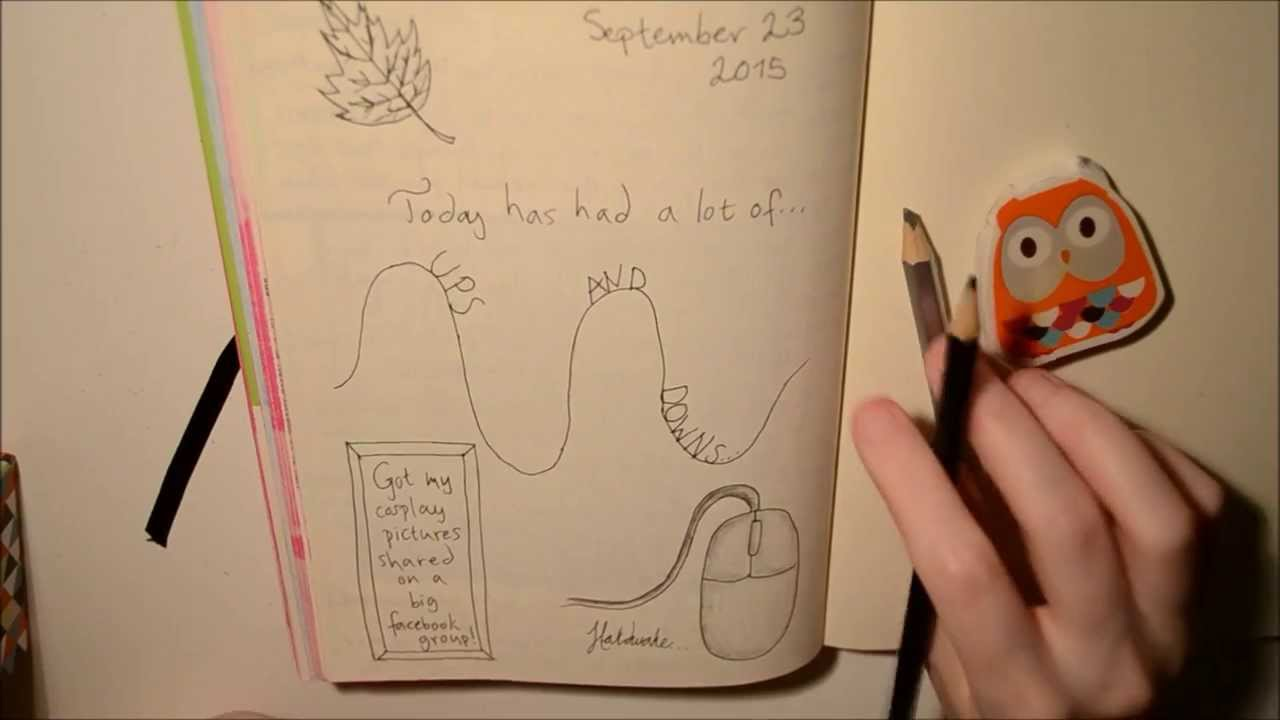 Journal with me! Fauxbonichi page 23 September 2015 - YouTube on page down,
