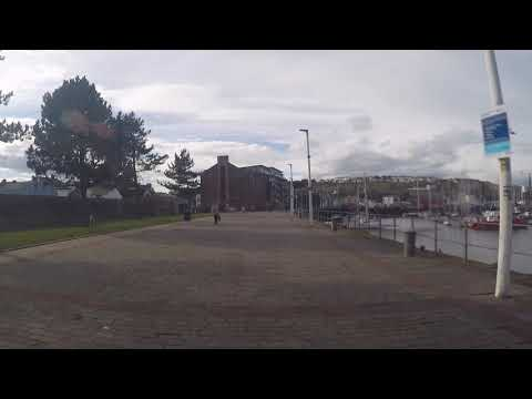 Whitehaven Harbour - A walk from the shoal of fish statue to the crows nest