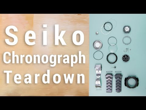 Tearing Down a Seiko Chronograph Whats Inside A Watch