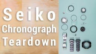 Tearing Down a Seiko Chronograph Whats Inside A Watch