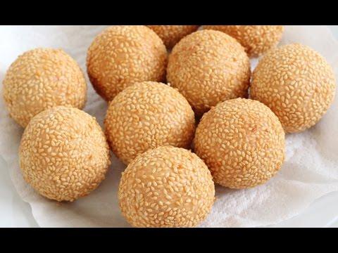 How to make Chinese fried sesame balls (aka Jian dui, 煎堆).