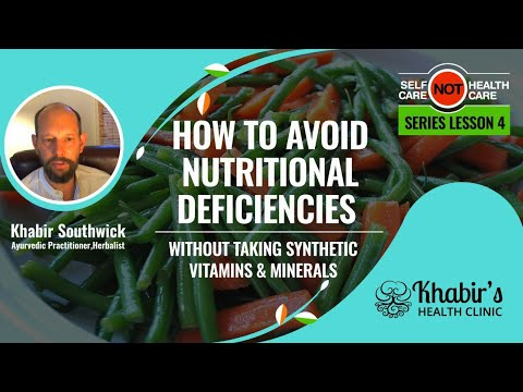 How to Avoid Nutritional Deficiencies without taking synthetic Vitamins & Minerals! - #4