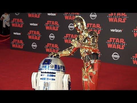 """RD-D2, C-3PO, BB-9E, BB-8  """"Star Wars: The Last Jedi"""" World Premiere Red Carpet"""