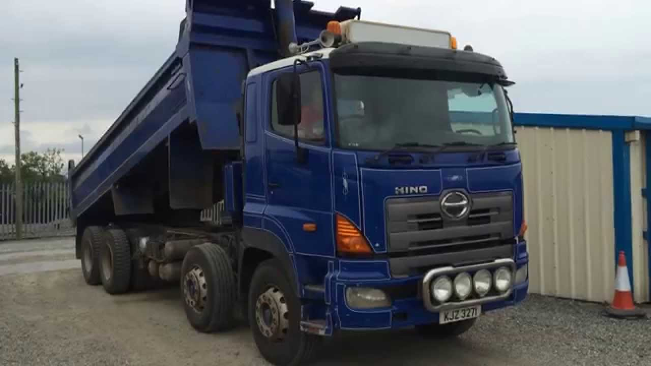 2006 hino 700 8x4 tipper lorry - youtube 2006 hino engine wiring #15