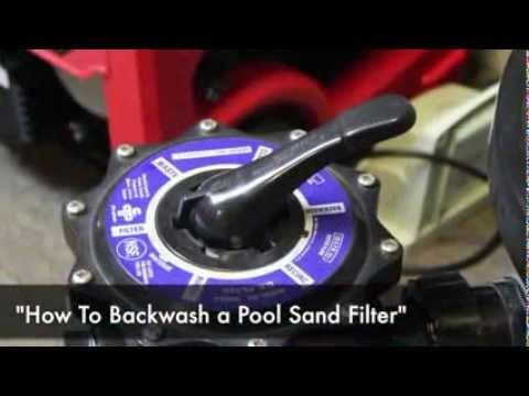 how to backwash a pool sand filter youtube. Black Bedroom Furniture Sets. Home Design Ideas