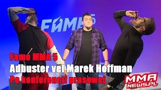 """Fame MMA 5: AdBuster wyjaśnił działanie """"przedtreningówki"""""""