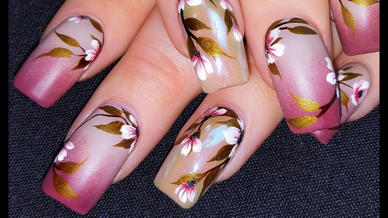 The most amazing pink and white flower nail design youtube the most amazing pink and white flower nail design mightylinksfo