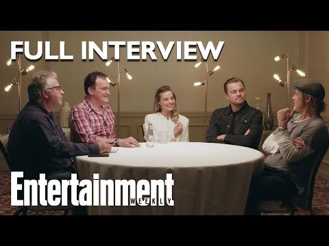 Once Upon A Time In Hollywood Roundtable: Brad Pitt Leonardo DiCaprio More  Entertainment Weekly