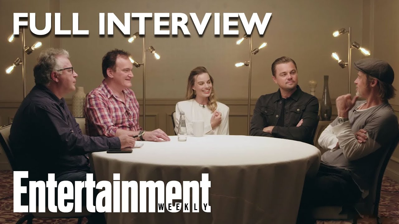 Once Upon A Time In Hollywood Roundtable: Brad Pitt, Leonardo DiCaprio, More
