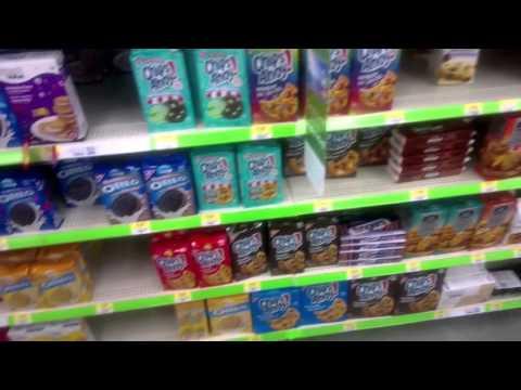 Shopping Inside Walmart - Drumheller, Alberta - Canada