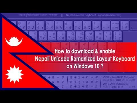 How to enable Nepali Unicode Romanized Layout Keyboard  on Windows 10 ?
