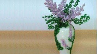 How to make lilac flowers with beads - Beaded lilac flowers tutorial - French beaded lilac flowers
