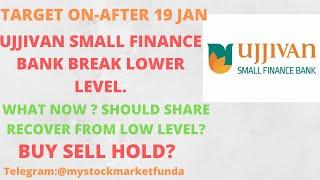 UJJIVAN SMALL FINANCE BANK SHARE LATEST NEWS | STOCK BREAK LOWER LEVEL | TARGET AFTER 19 JAN