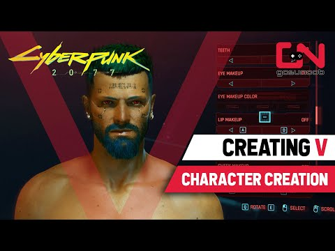 cyberpunk-2077-character-creation---male-v-hairstyles,-cyberwear,-tattoos,-beards..