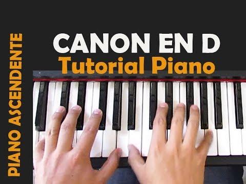 Canon en D - Pachelbel / Tutorial Piano