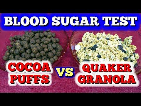 Blood Sugar Test: Cocoa Puffs Vs Granola Cereal
