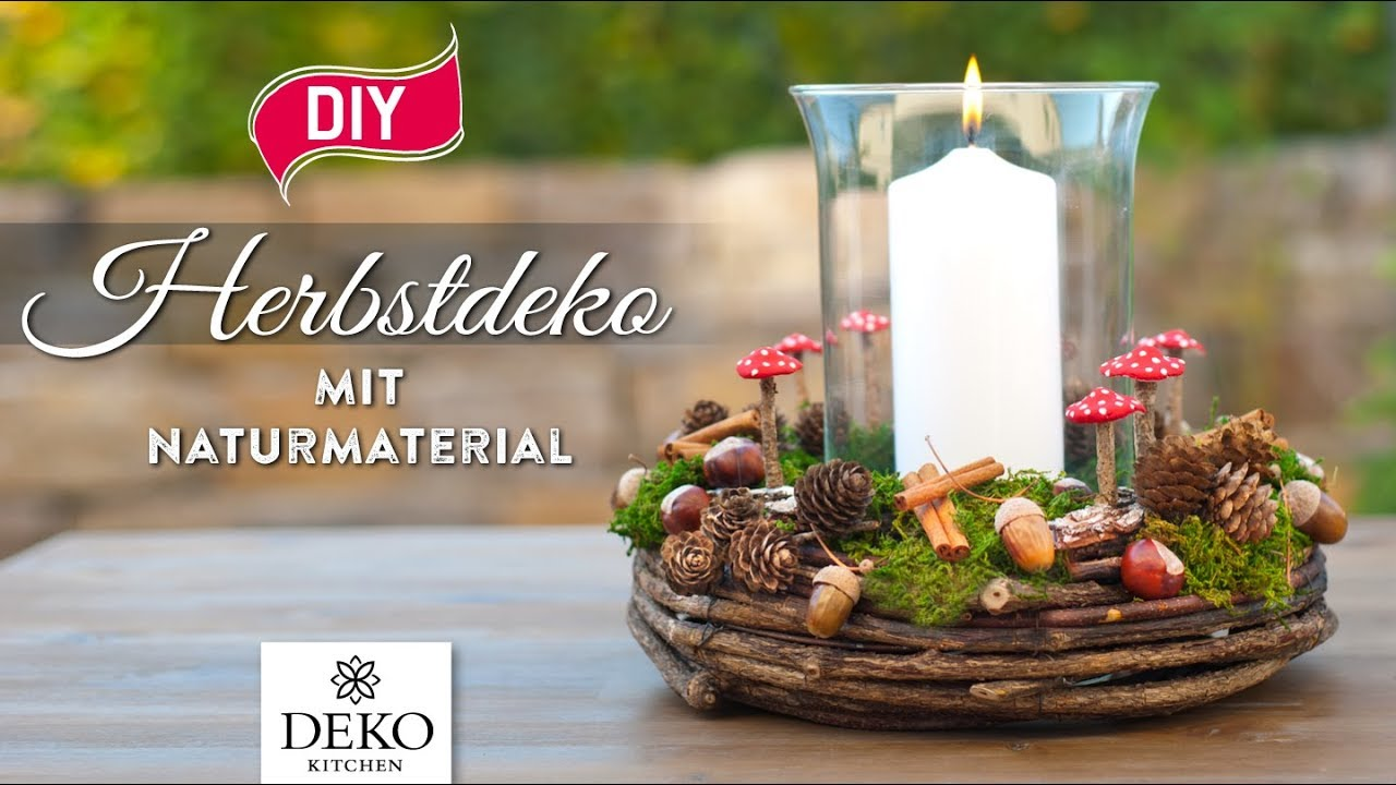 Diy s e herbstdeko mit naturmaterial selbermachen how to deko kitchen youtube - Youtube deko kitchen ...