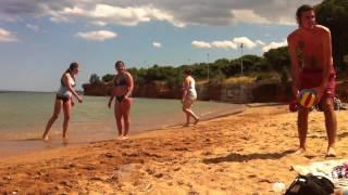Greece sandy beach Rafina