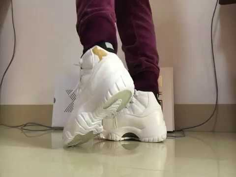 290ff21d5030c9 2017 New Air Jordan 11 OVO White On Feet - YouTube