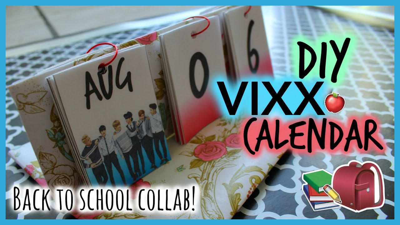 Diy Kpop Calendar : Diy vixx calendar kpop back to school collab