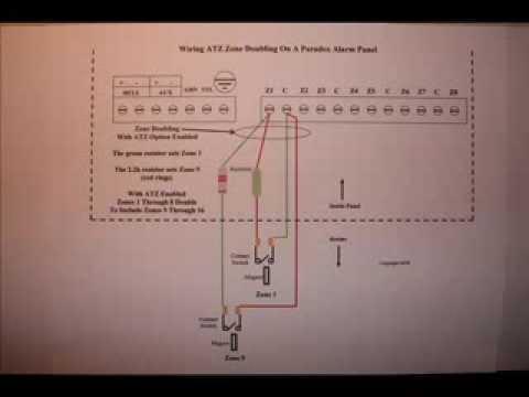 paradox alarm panel wiring atz zone doubling using parallel zone wiring