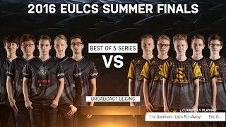 G2 eSports vs Splyce - Grand Finals full Match (All Games) | LoL S6 EU LCS Summer 2016 | SPY vs G2