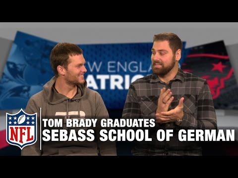 Tom Brady Tries to Speak German in Sebastian Vollmer's School of German | Patriots | NFL