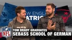 Tom Brady Tries to Speak German in Sebastian Vollmer's School of German   Patriots   NFL