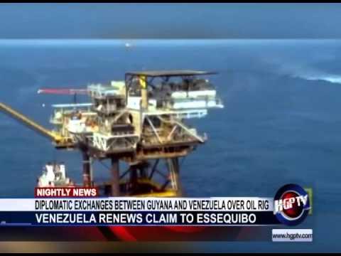 DIPLOMATIC EXCHANGES BETWEEN GUYANA AND VENEZUELA OVER OIL RIG