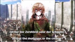 Repeat youtube video Attack on Titan - Bauklötze (German and English Lyrics)