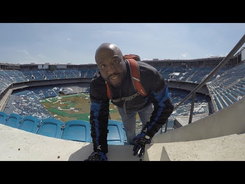 Climbing Through The Abandoned Pontiac Silverdome Ruins: Bike Life Detroit