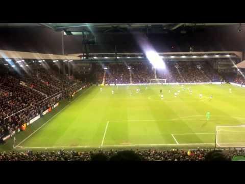 Fulham 1 Leeds 1 - 7/3/17 - Pontus Jansson, Kyle Bartley, LUKE Ayling and Berardi