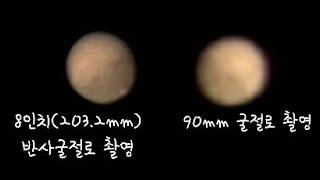 천체망원경 화성 관측,촬영 성능비교