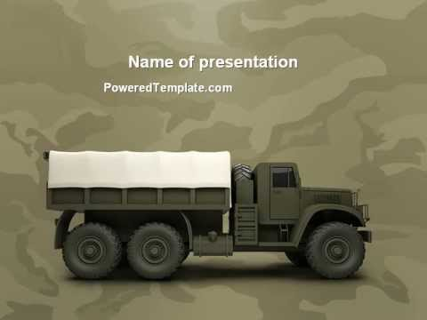 Military Truck PowerPoint Template By PoweredTemplate.com